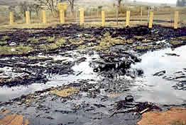 Vazamento de óleo combustível por duto - Campinas (1990).
