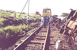 Descarrilamento de trem no município de São Manuel