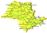 Clique no mapa acima para visualizar as informações sobre a Destinação de Resíduos Urbanos
