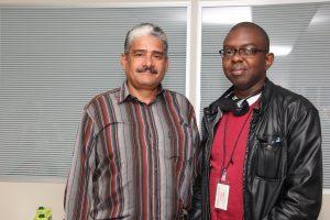 Mário Abo, de Cuba e o jamaicano Smith