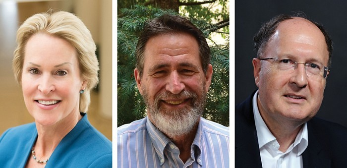 Frances Arnold, George P. Smith e Gregory P. Winter os trê contemplados com o Prêmio Nobel de Química- 2018.